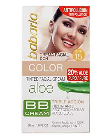 Crema Facial Aloe Vera Con Color SPF15 - Opiniones en Linea 2